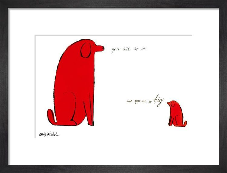 You are So Little and You Are So Big c.1958 by Andy Warhol