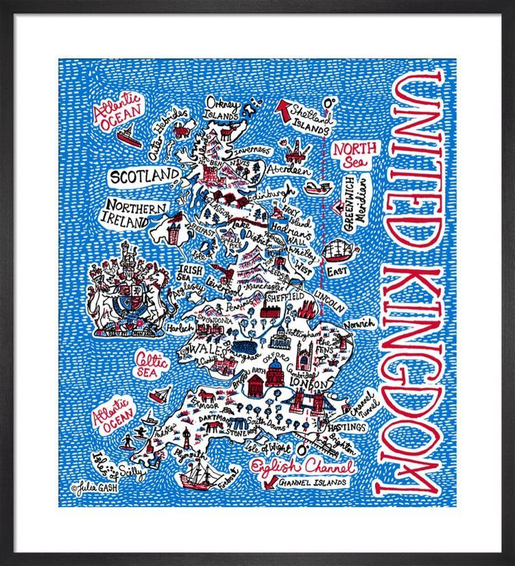 United Kingdom Cityscape by Julia Gash