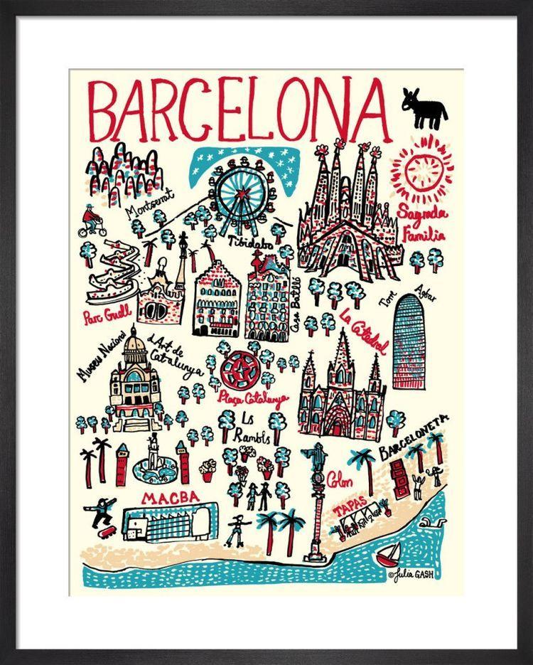 Barcelona Cityscape by Julia Gash
