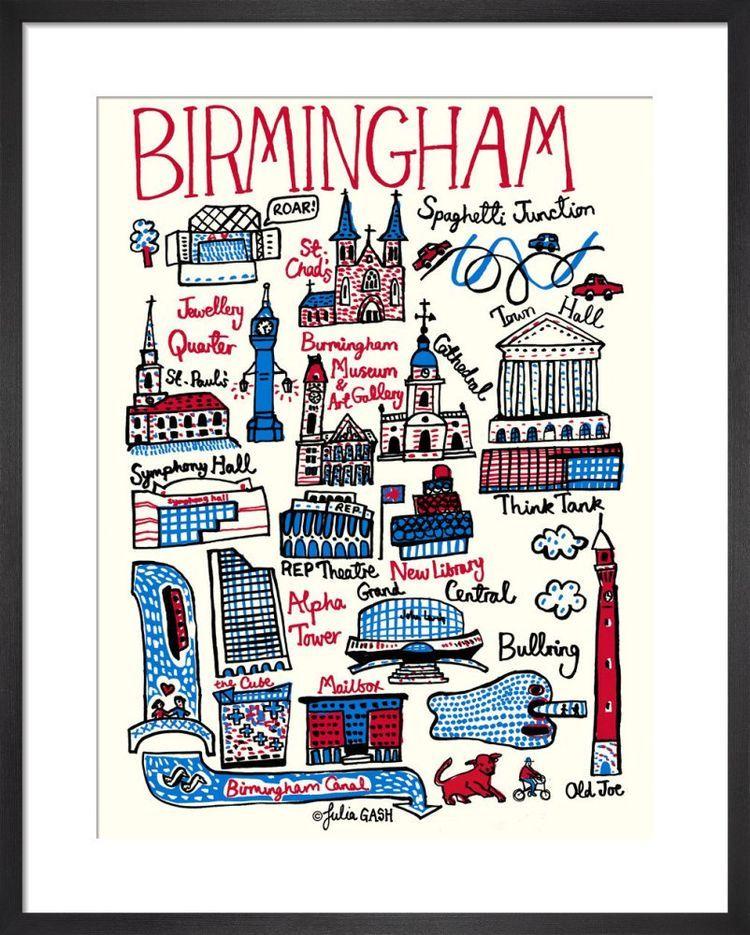 Birmingham Cityscape by Julia Gash