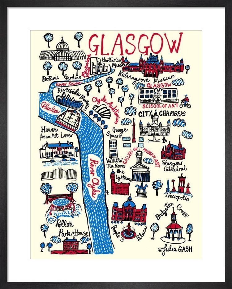 Glasgow Cityscape by Julia Gash