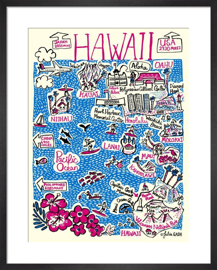 Hawaii  Cityscape by Julia Gash
