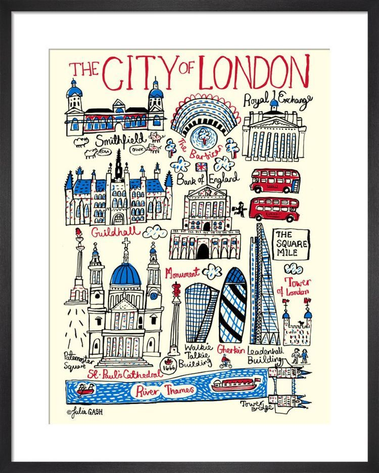 City of London Cityscape by Julia Gash