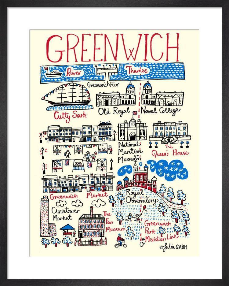 Greenwich Cityscape by Julia Gash