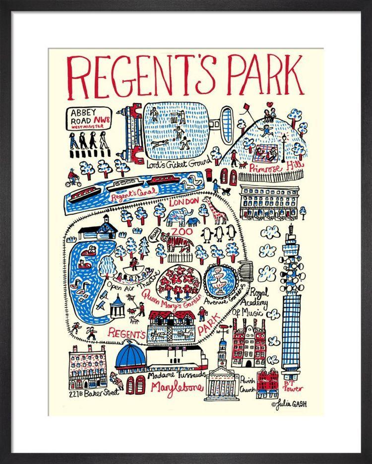 London – Regents Park Cityscape by Julia Gash