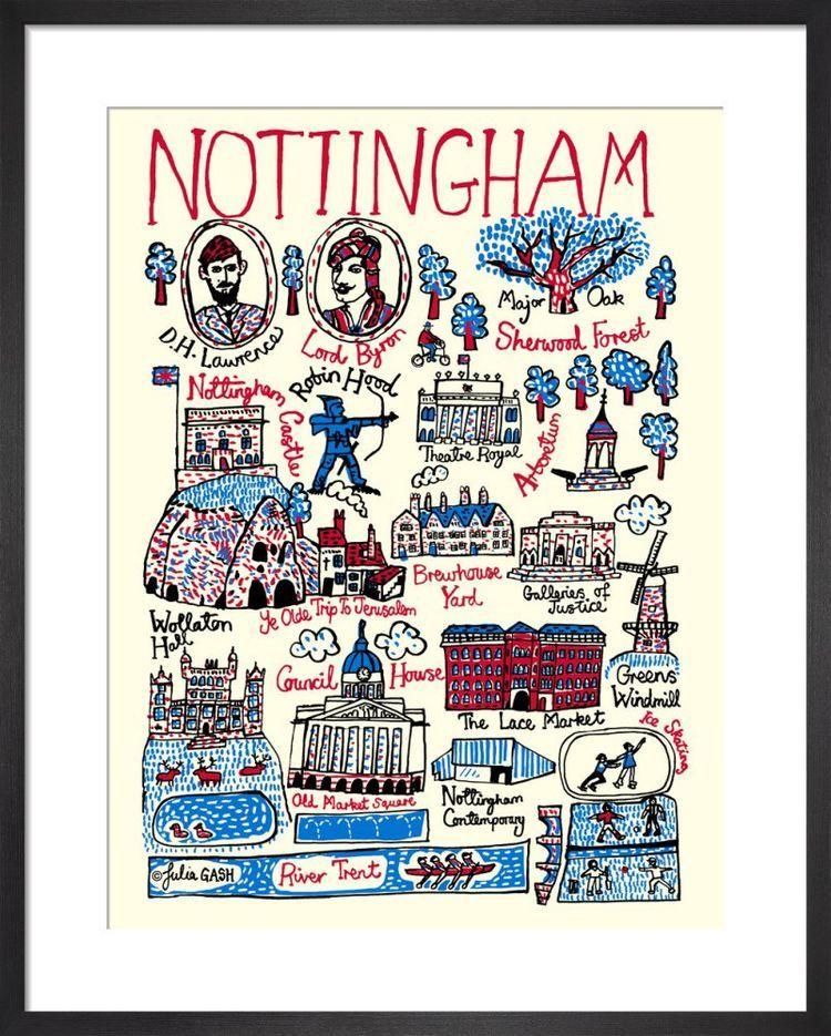 Nottingham Cityscape by Julia Gash