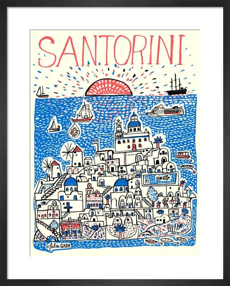 Santorini Cityscape by Julia Gash