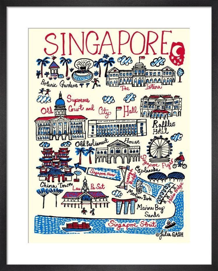 Singapore Cityscape by Julia Gash