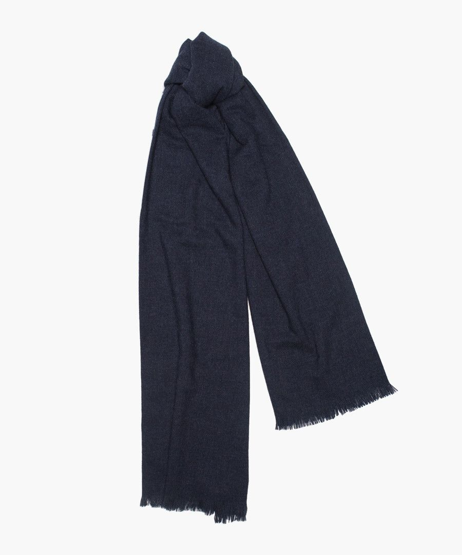 Beaufort lambswool and cashmere blend scarf
