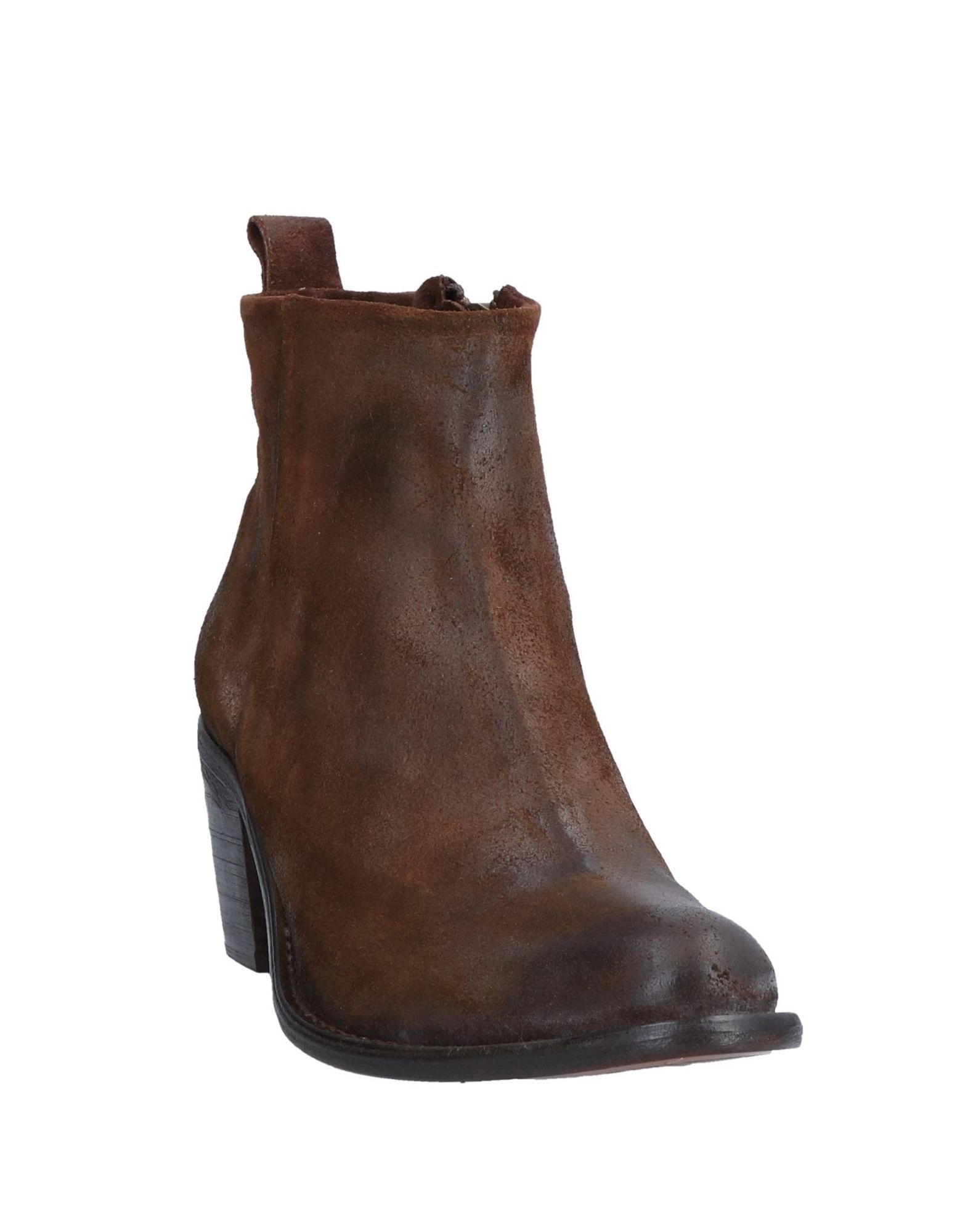 Diesel Dark Brown Leather Ankle Boots