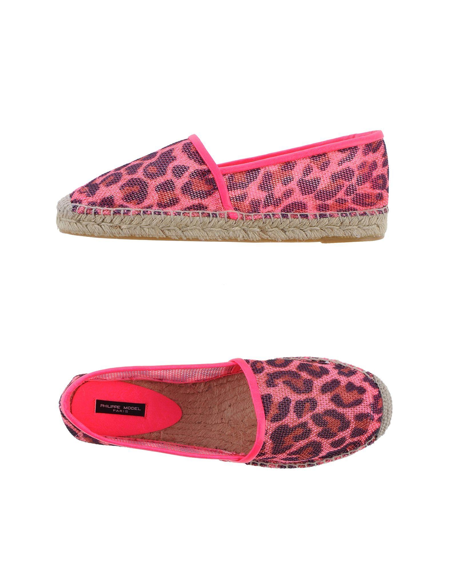 Philippe Model Pink Leopard Print Espadrilles
