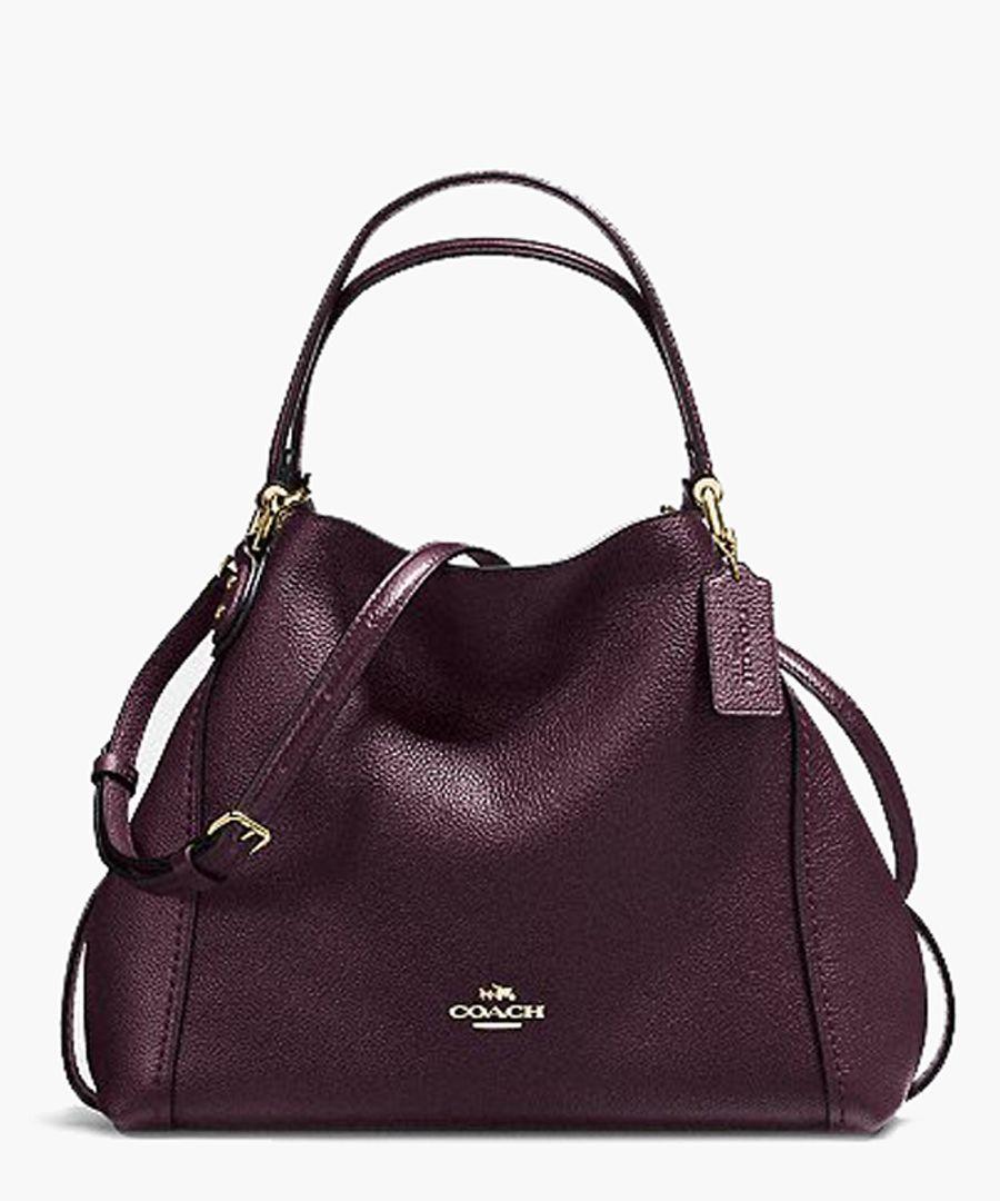 Edie oxblood leather shoulder bag