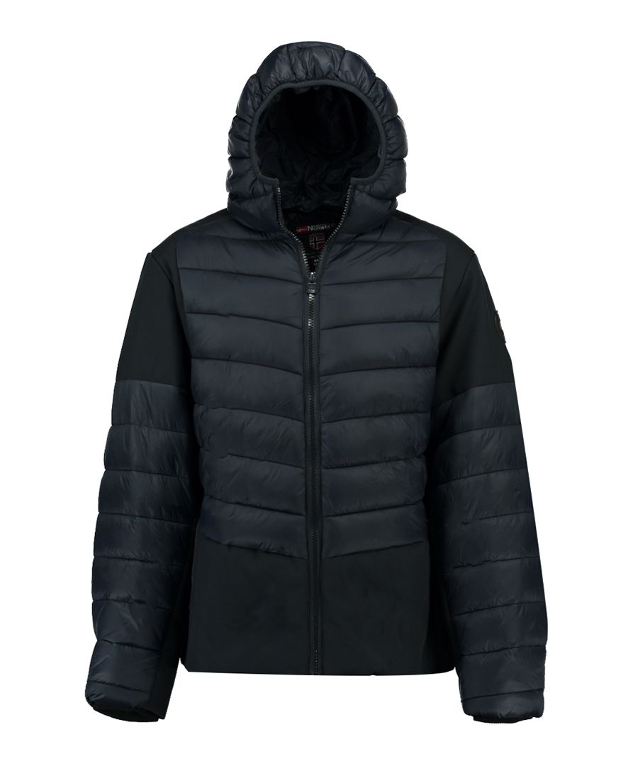 Navy semi-padded puffer coat