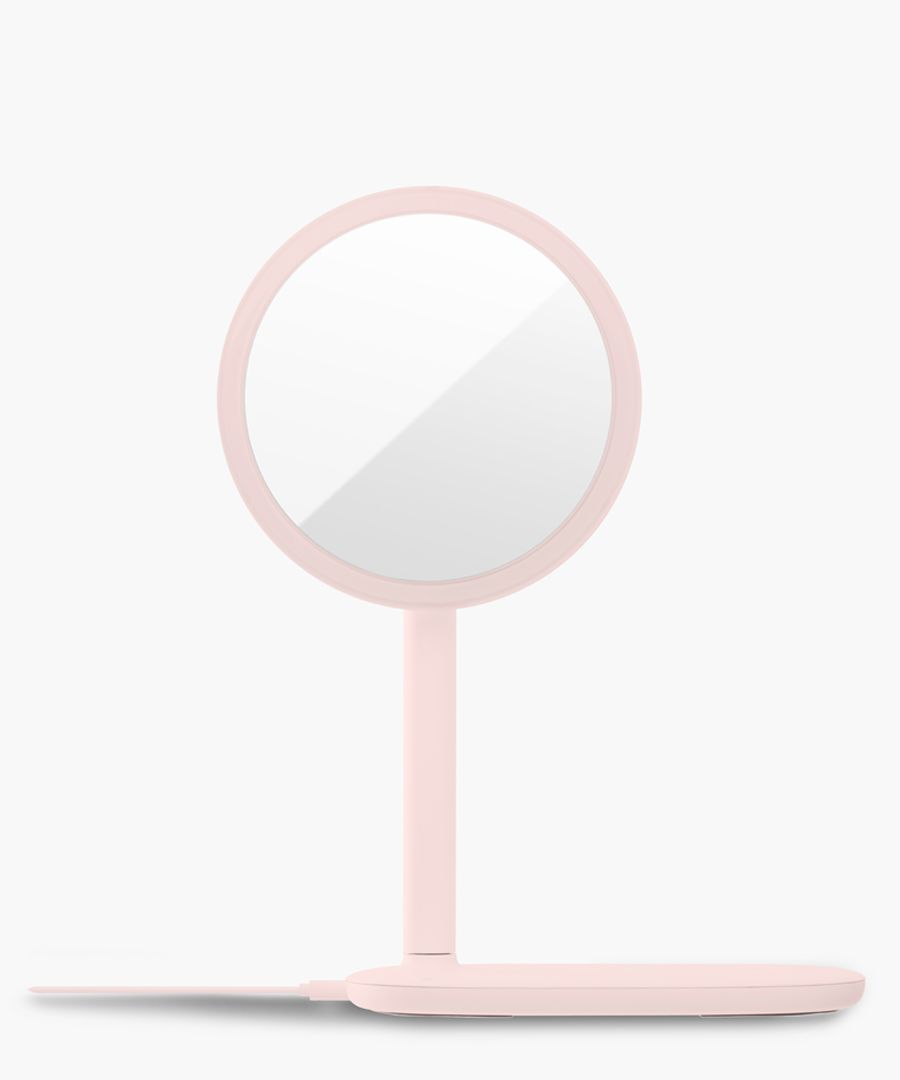 LED Pink wireless charger mirror