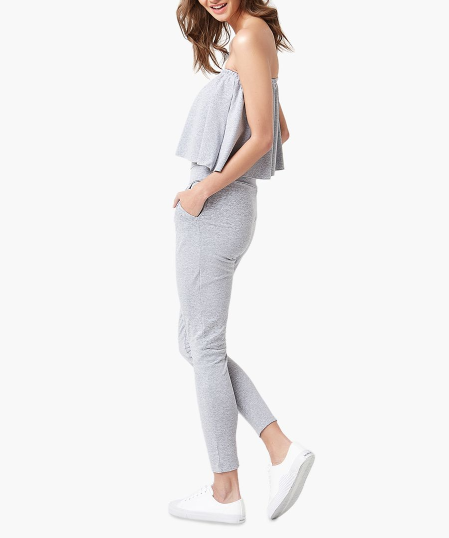 Light grey woven overalls