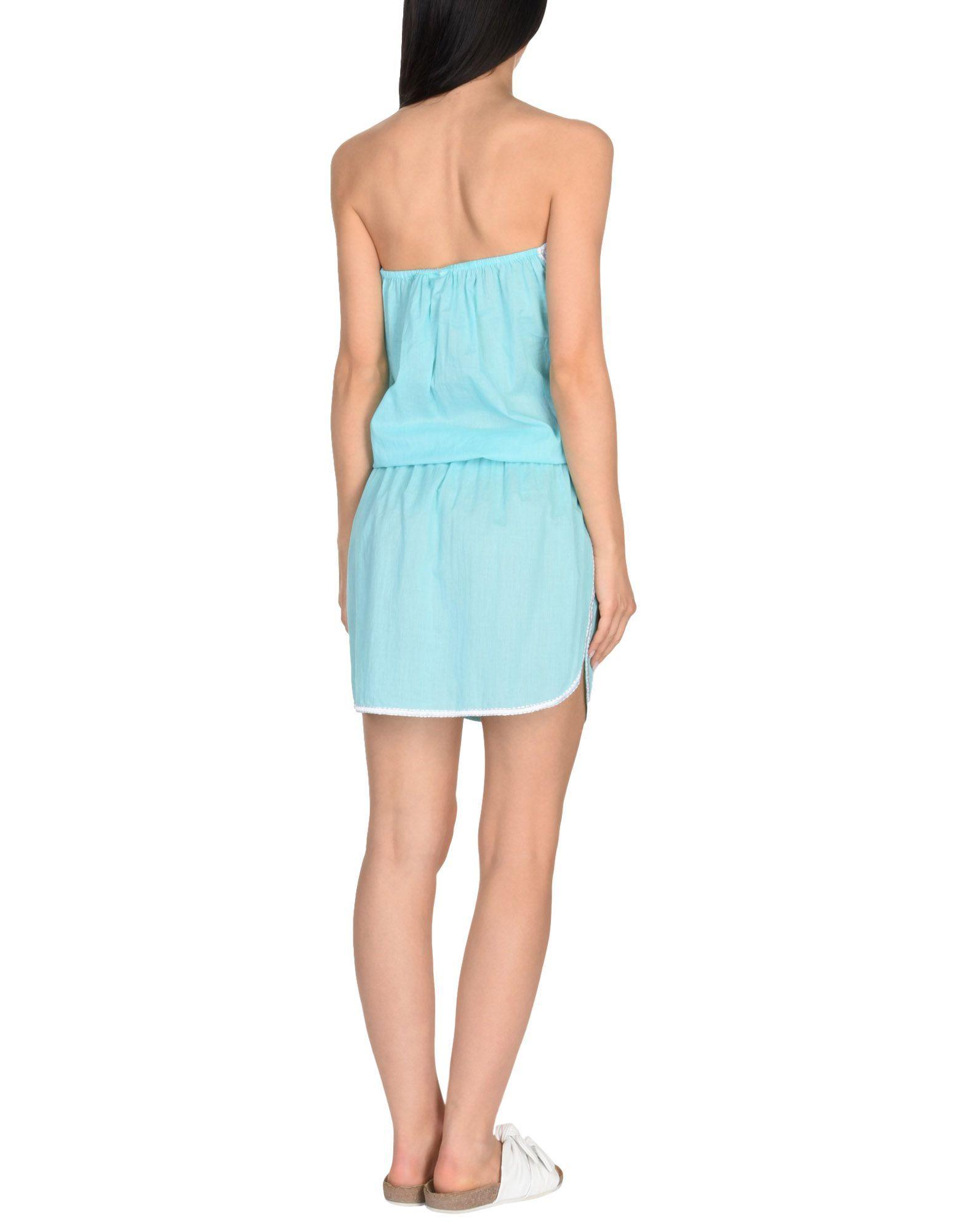 Heidi Klein Turquoise Cotton Bandeau Dress