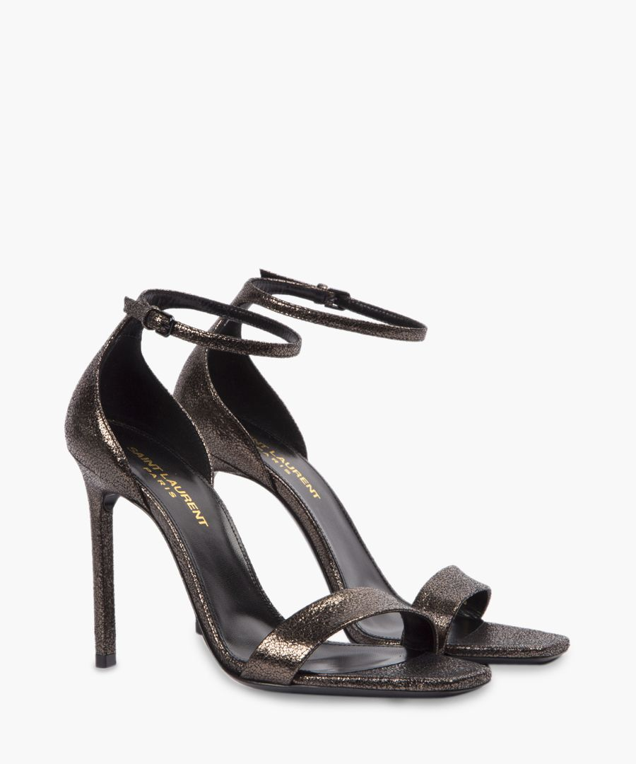 Amber black leather sandals