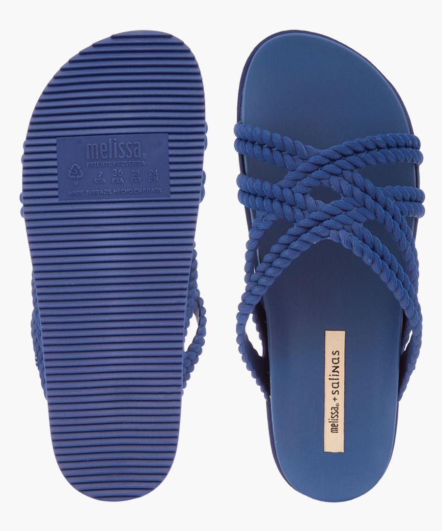 Salinas navy rope sandals