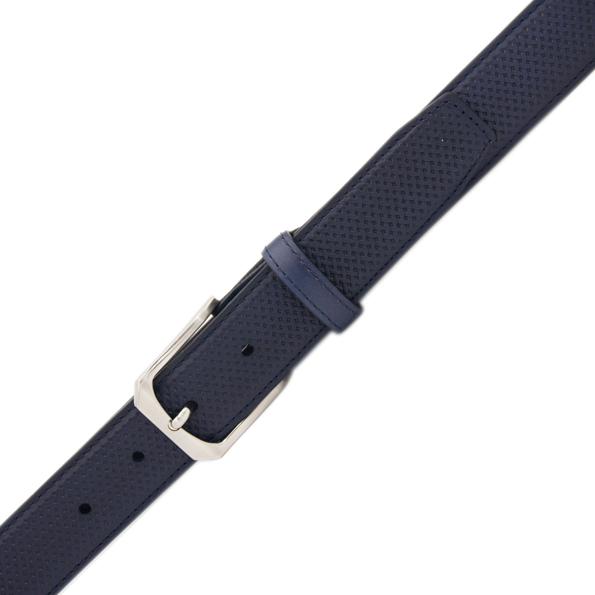 Mens navy leather belt