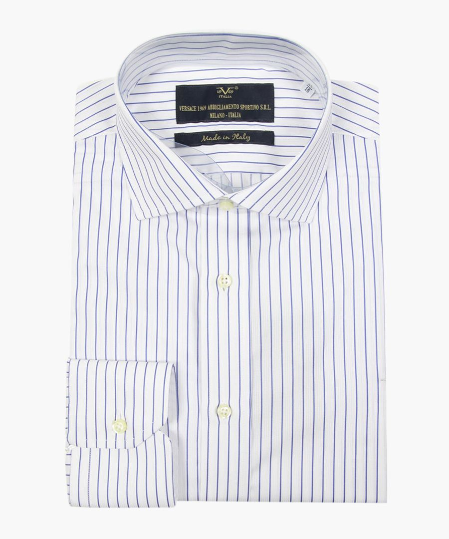 White pure cotton classic collar shirt