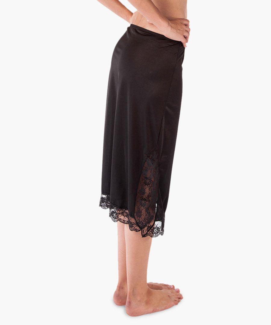 Black long slip