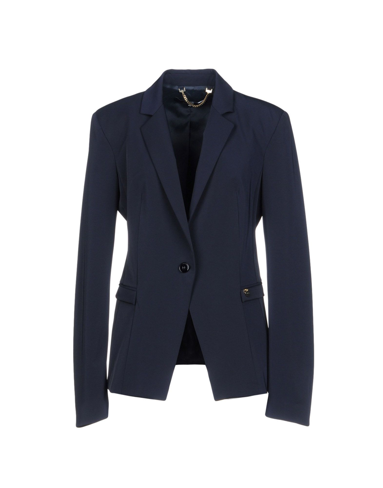 Elisabetta Franchi 24 Ore Dark Blue Single Breasted Blazer