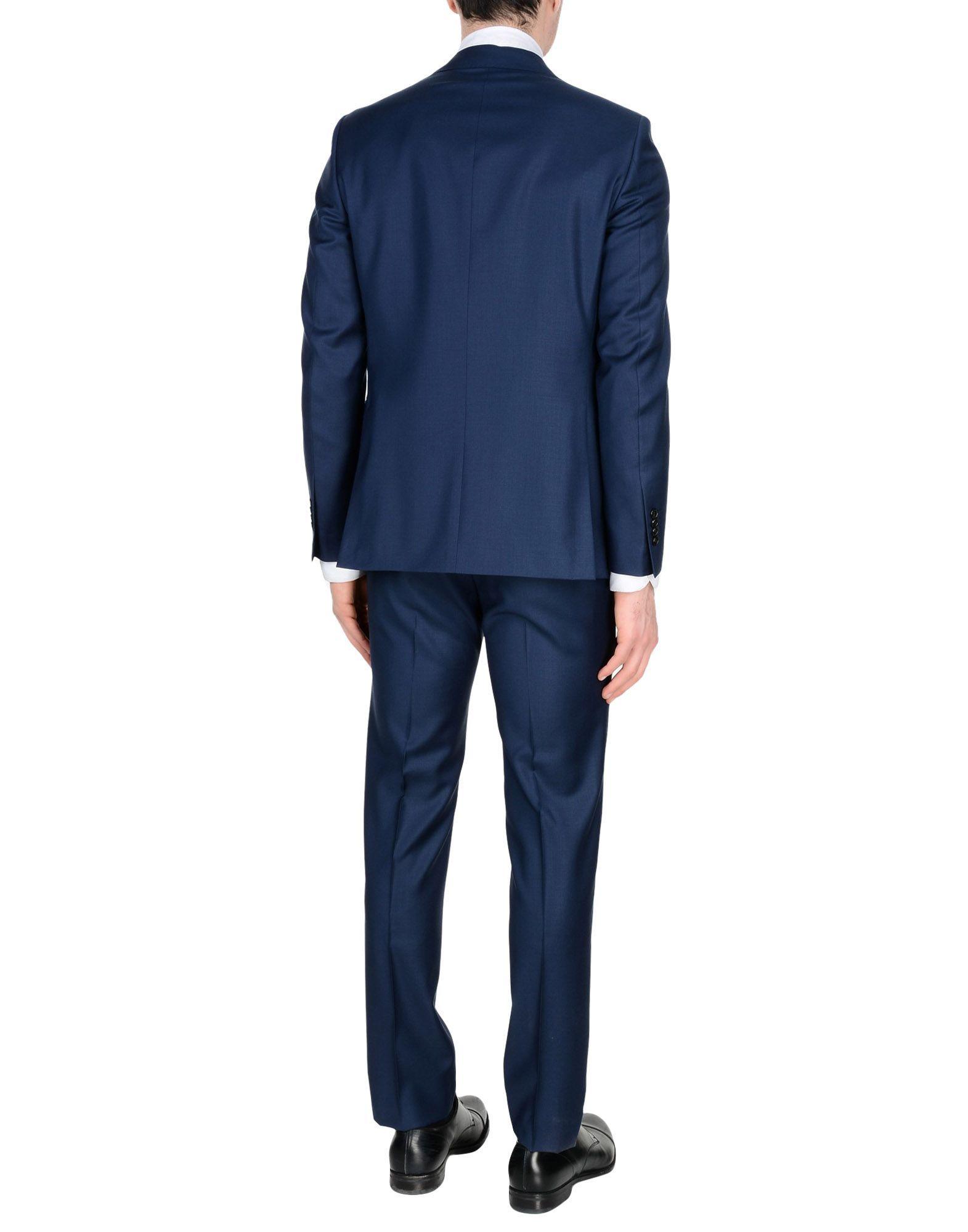 Tombolini Blue Virgin Wool Suit