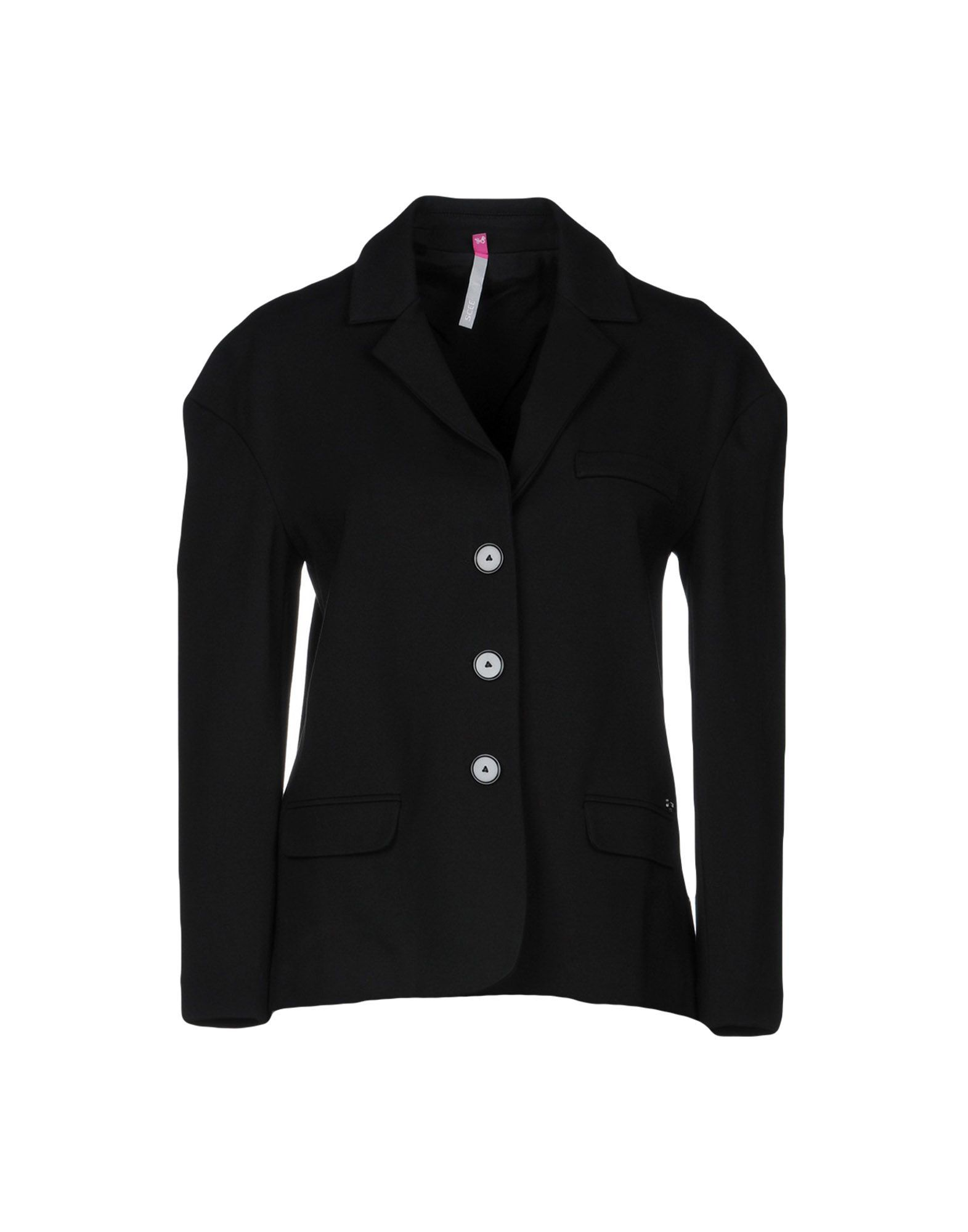 Scee By Twinset Black Single Breasted Jacket
