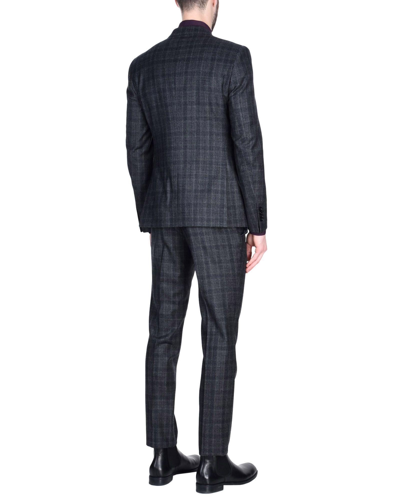Tagliatore Steel Grey Virgin Wool Single Breasted Suit