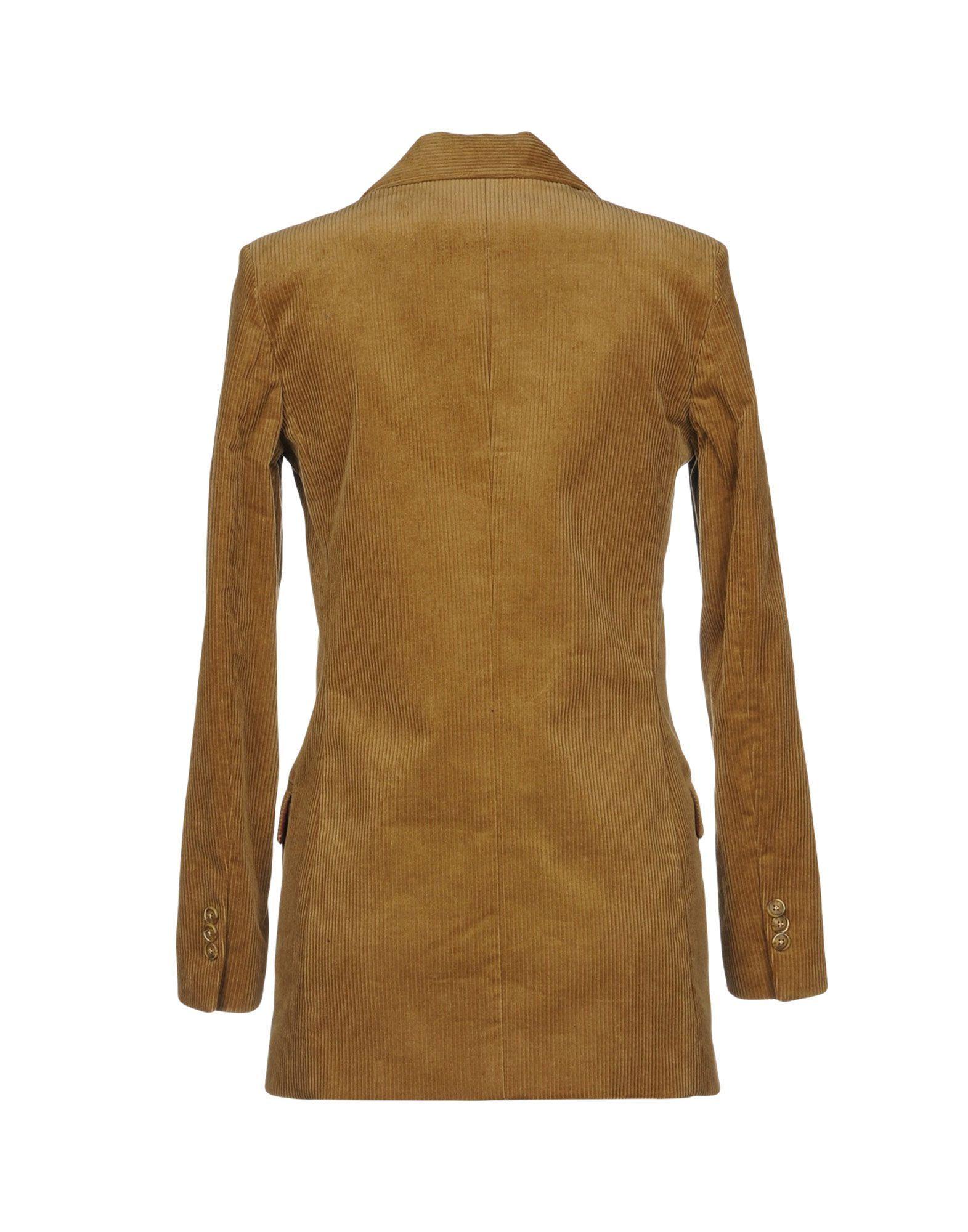 Vicolo Beige Cotton Velvet Double Breasted Jacket