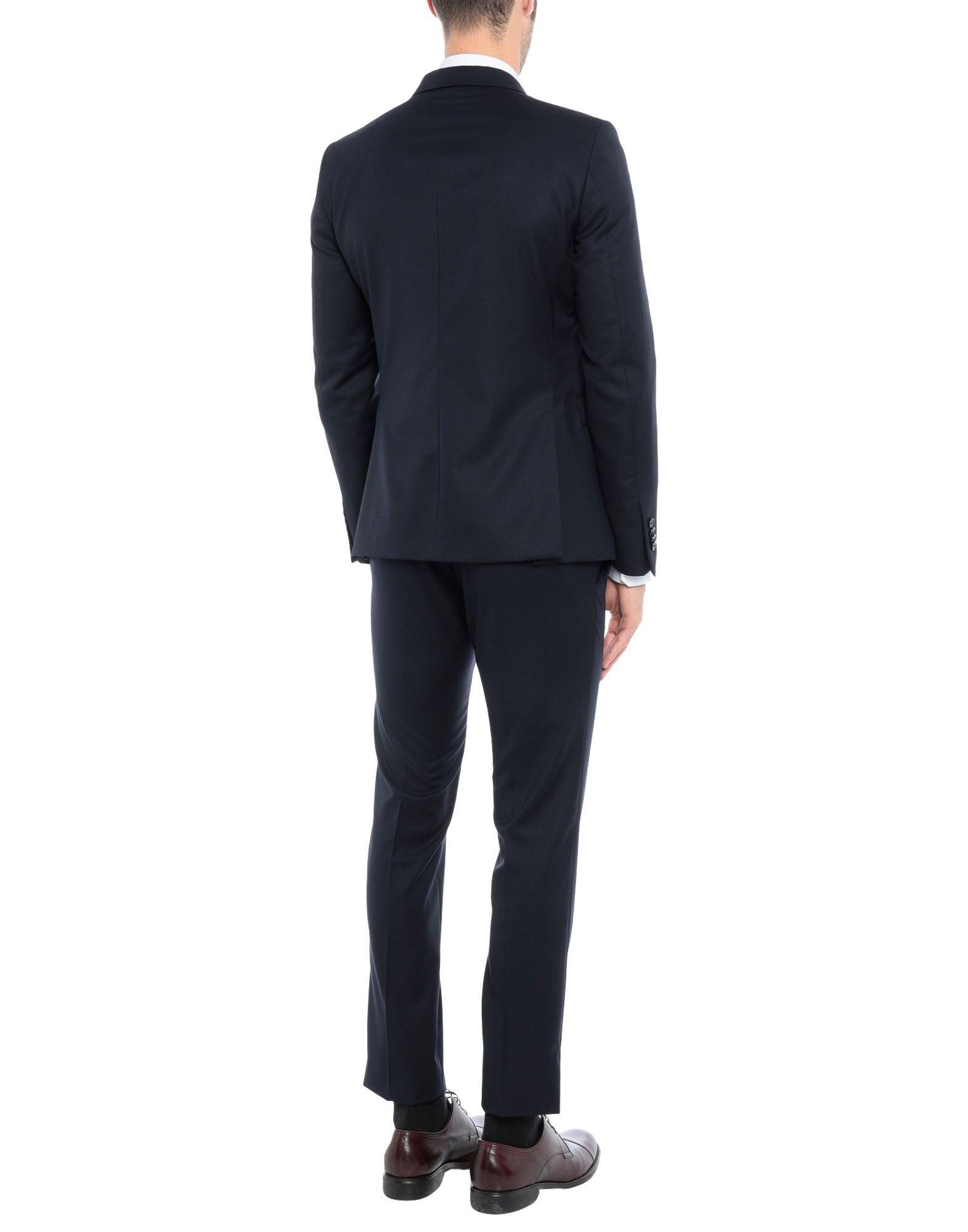 Tagliatore Dark Blue Wool Single Breasted Suit