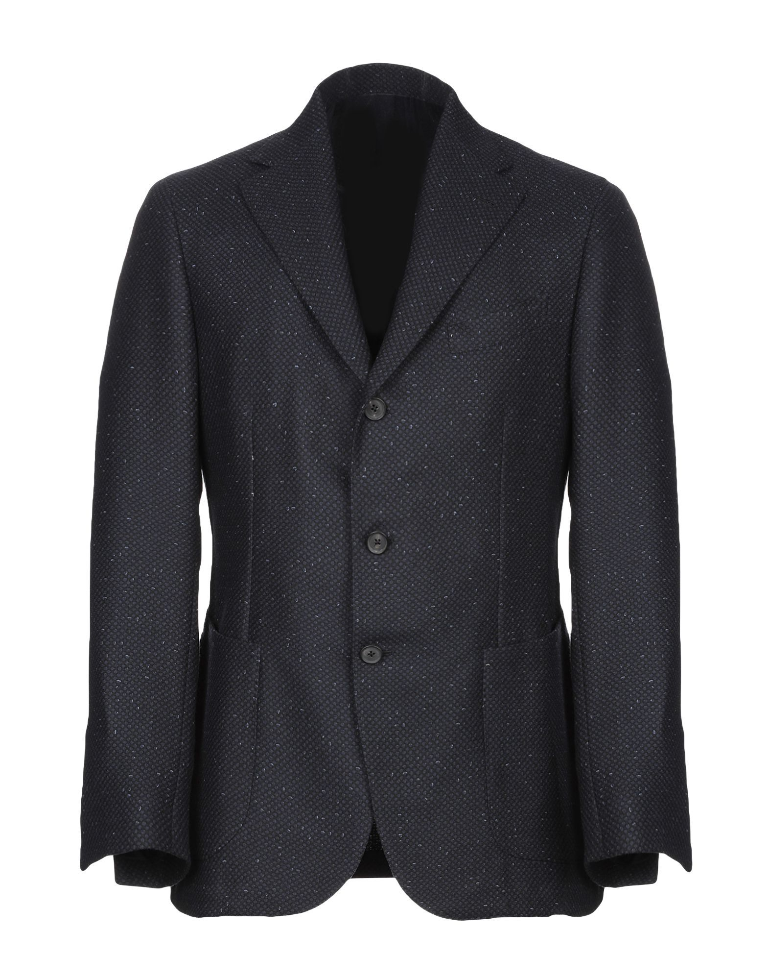 Luigi Borrelli Napoli Dark Blue Virgin Wool Single Breasted Blazer