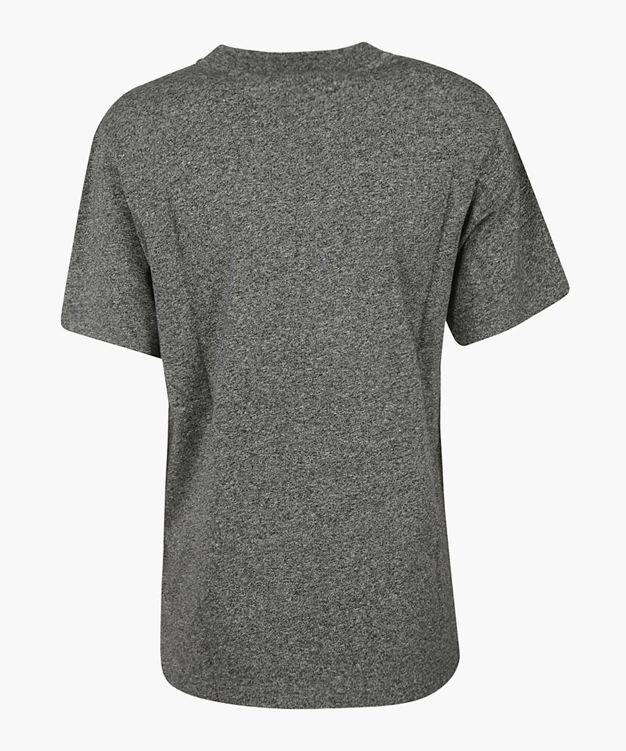 Anthracite printed T-shirt
