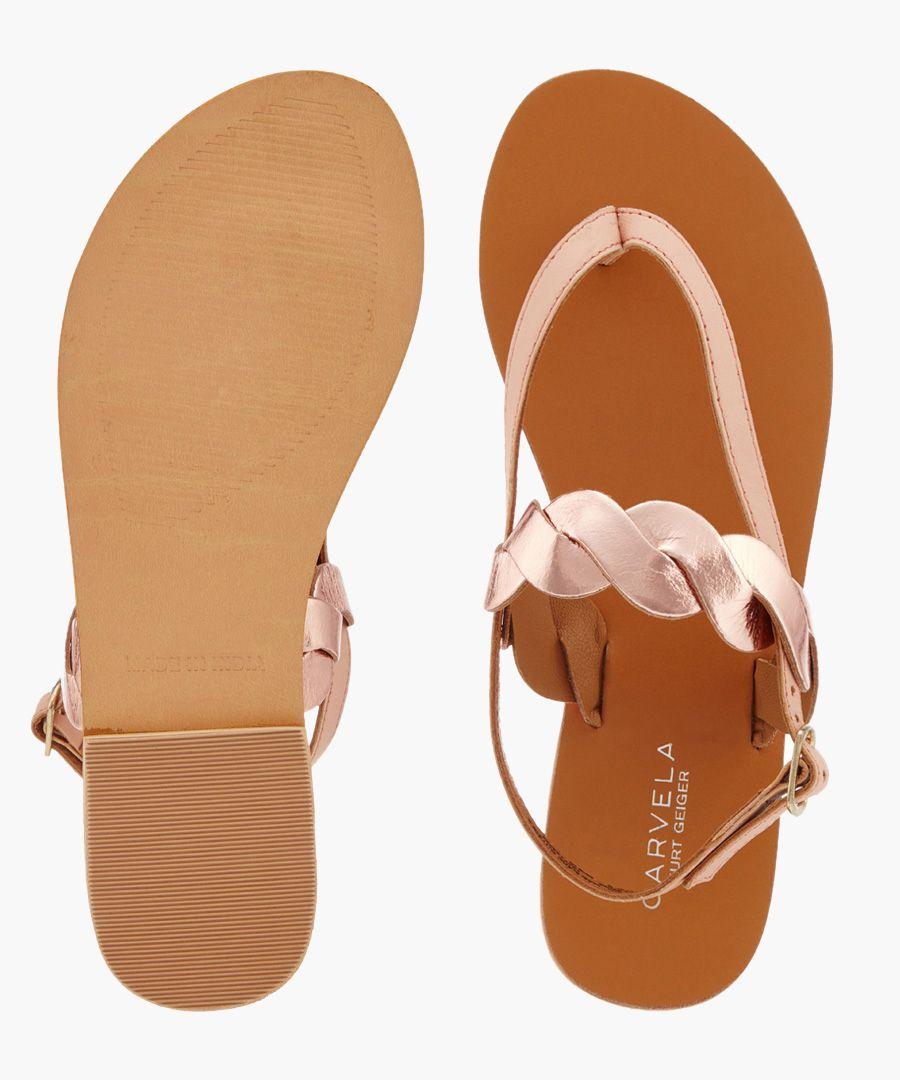 Aim nude braided sandals