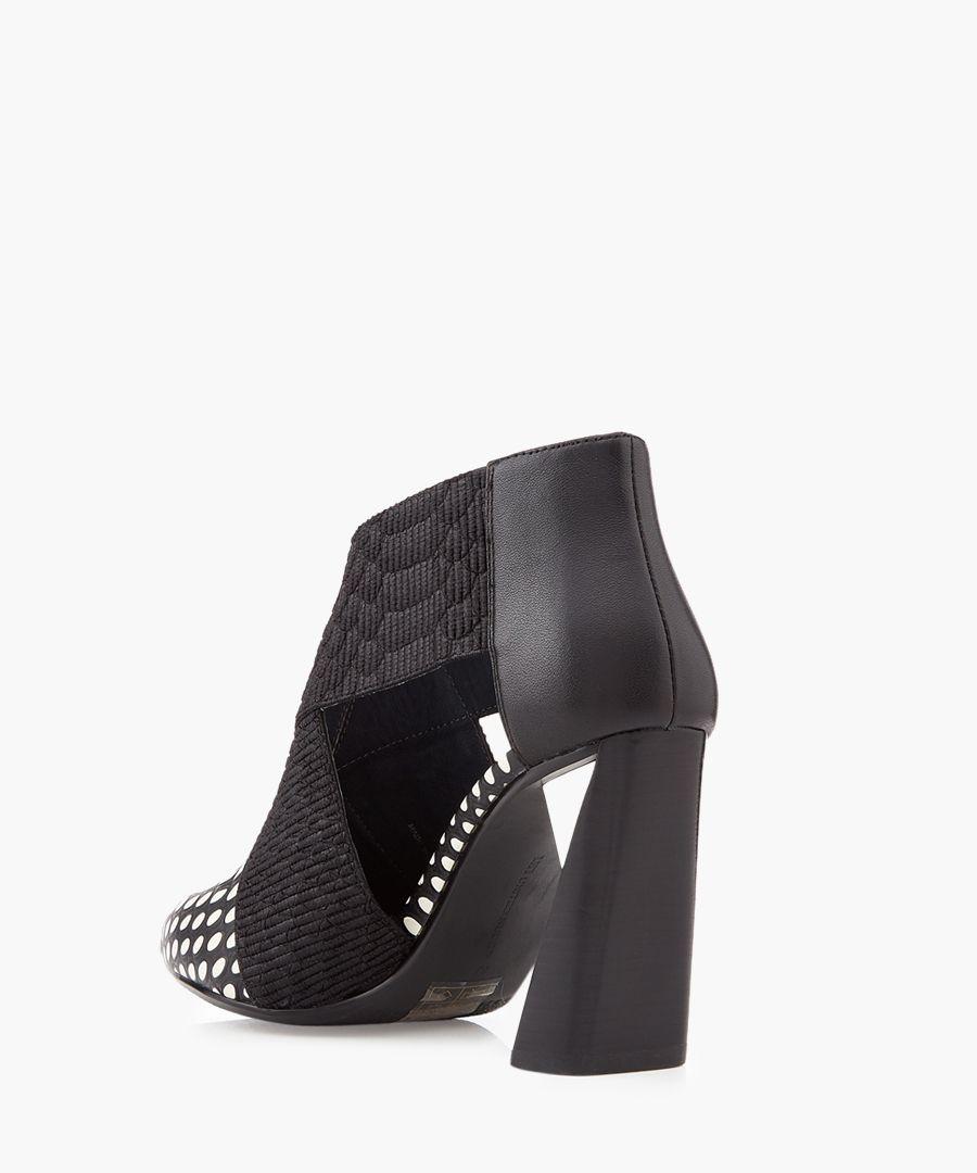 Zinc monochrome cut-out heels