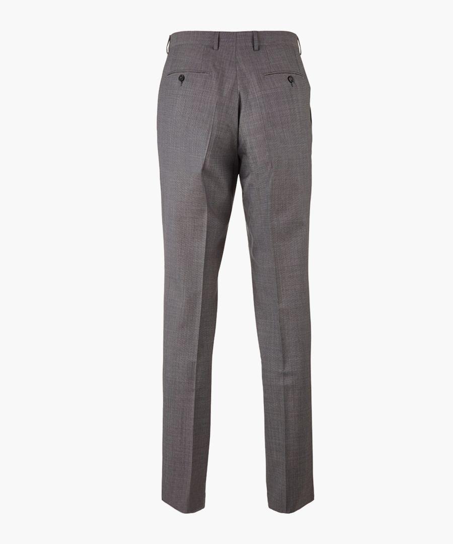 Grey pure wool long sleeve blazer
