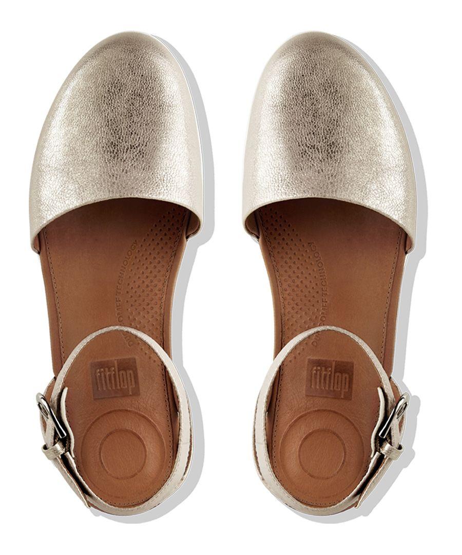 Cova silver-tone closed-toe sandals