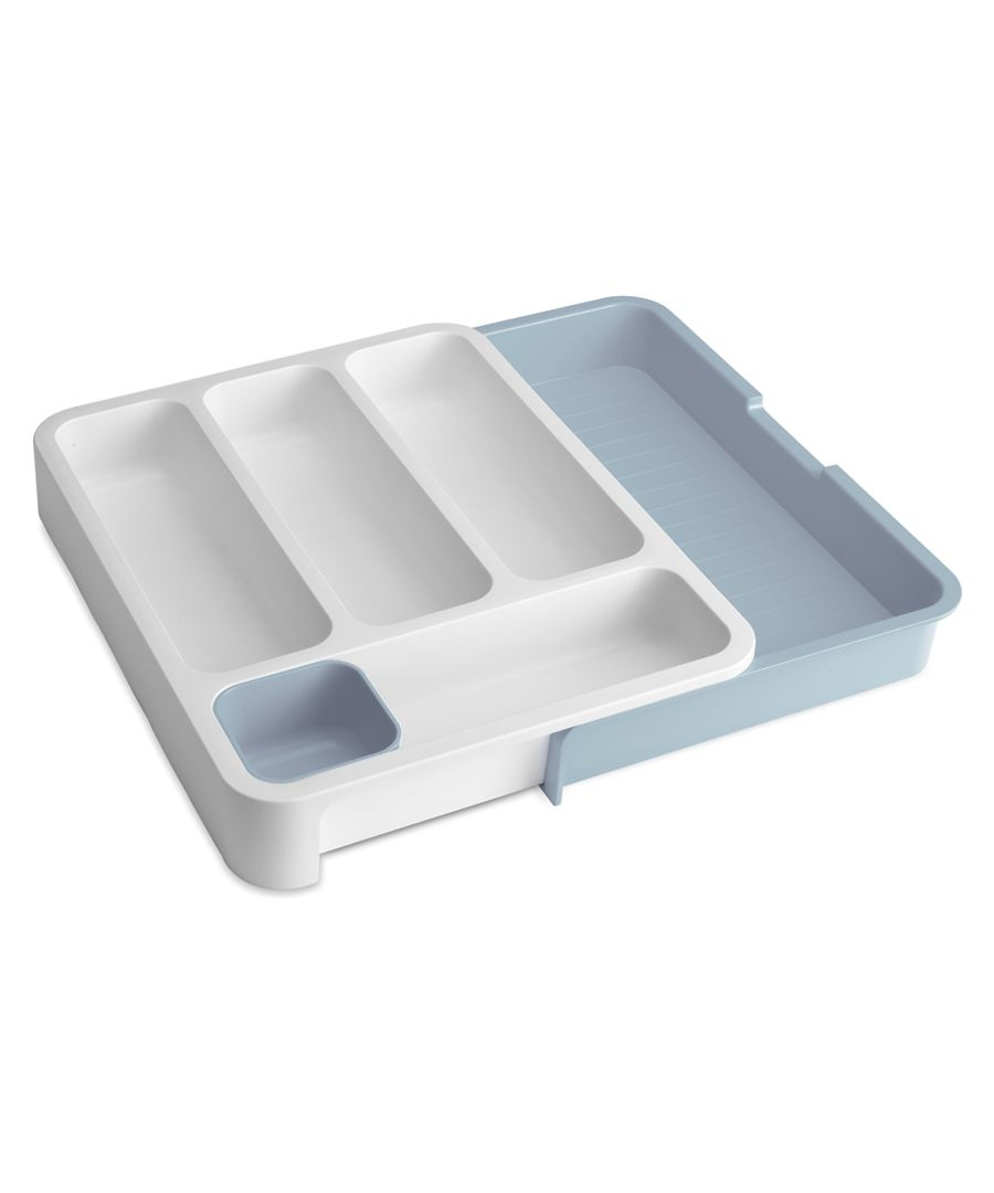 Grey and blue drawer store