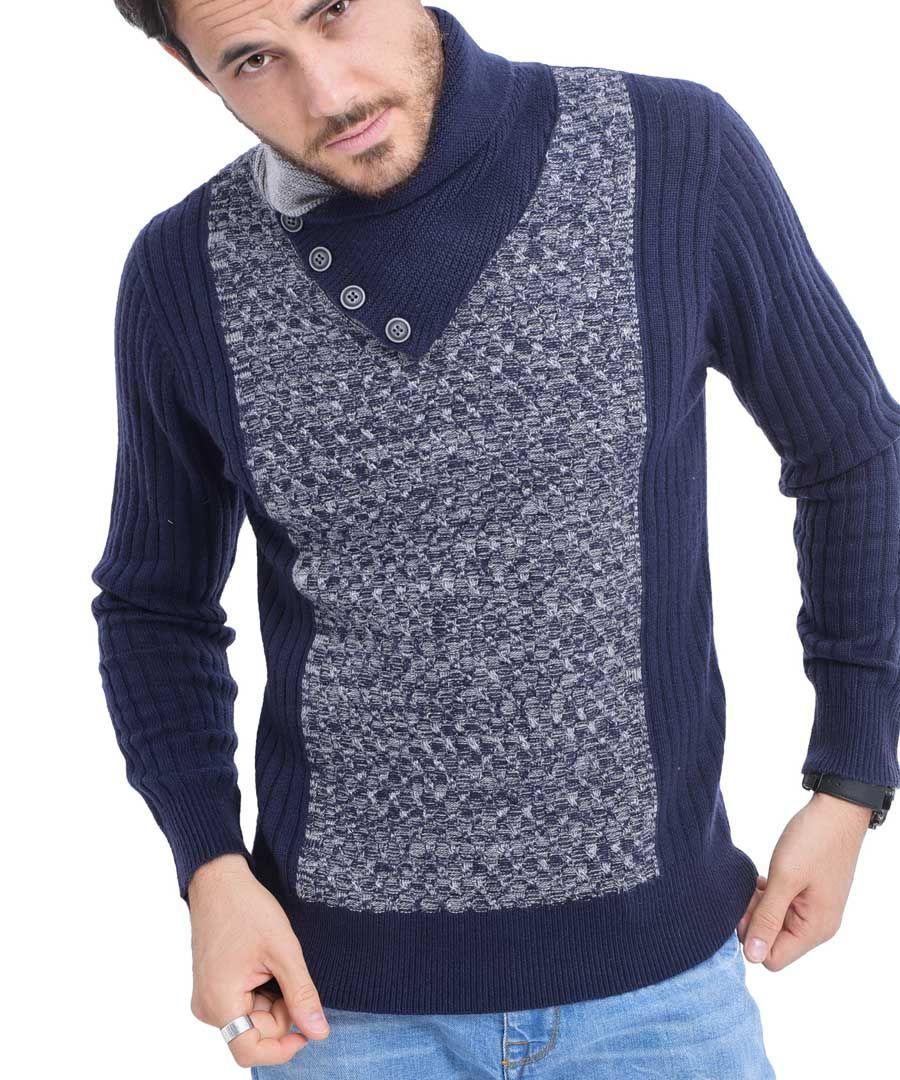 Blue cashmere blend jumper