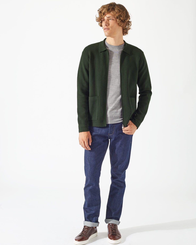 Cotton Milano Zip Through Jacket