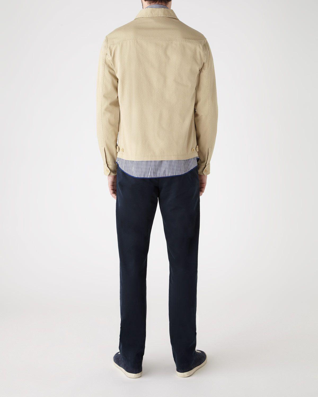 Polka Dot Print Zip Jacket