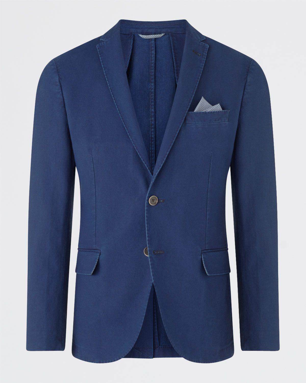 Indigo Pique Slim Jacket