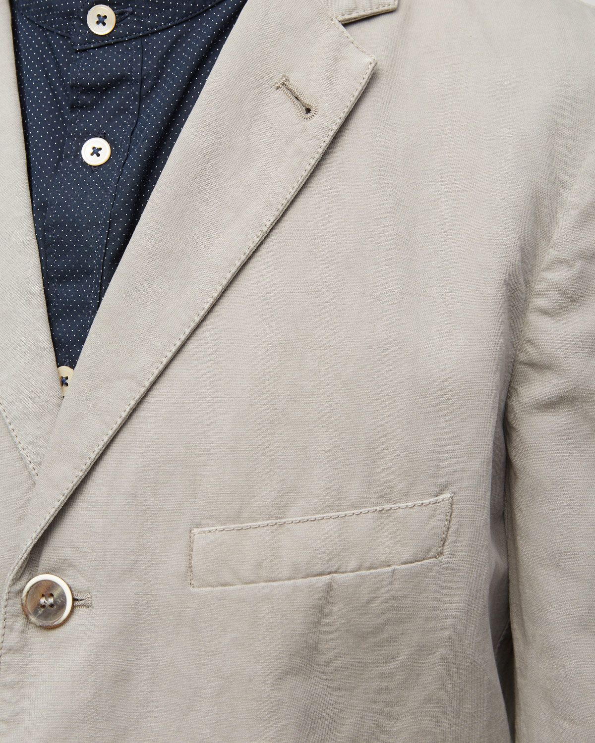 Cotton Linenen 3 Button Jacket