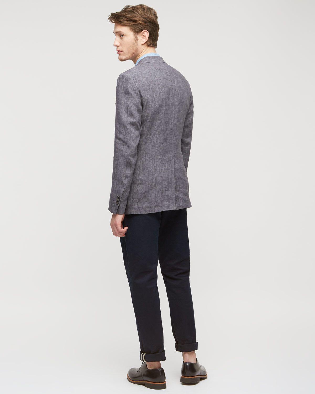 Linen Melange 2 Button Tail Jacket