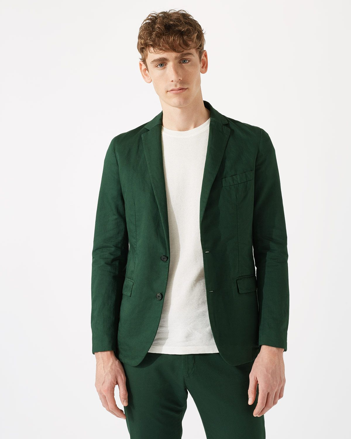 Italian Cotton Linen Garment Dye Jacket
