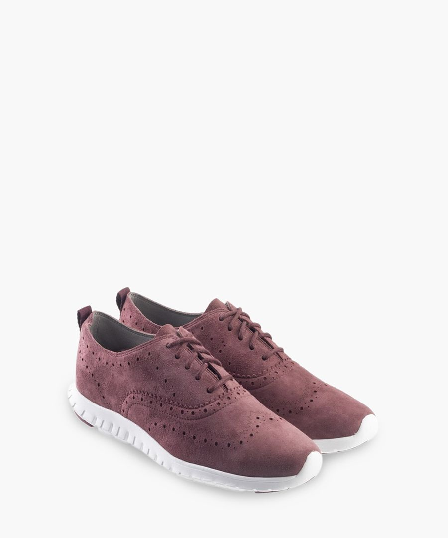 Womens burgundy Oxford shoes