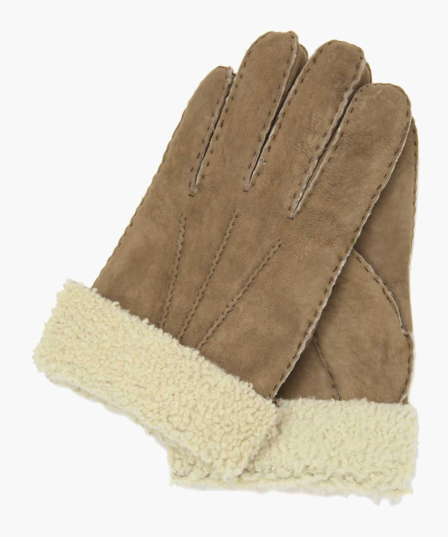 Grey nappa leather gloves
