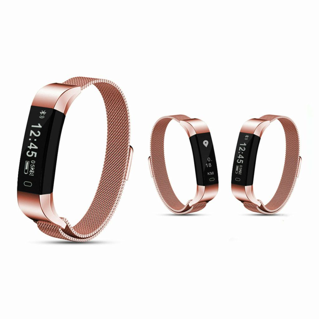 Aquarius AQ115 Fitness Tracker with Milanese Strap Rose Gold