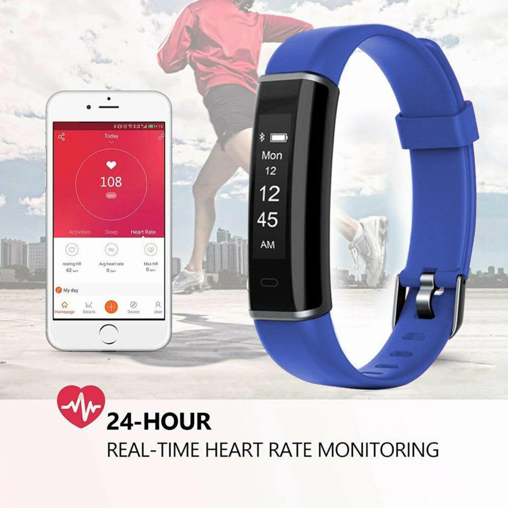 Aquarius AQ113 Fitness Tracker With Heart Rate Monitor Blue
