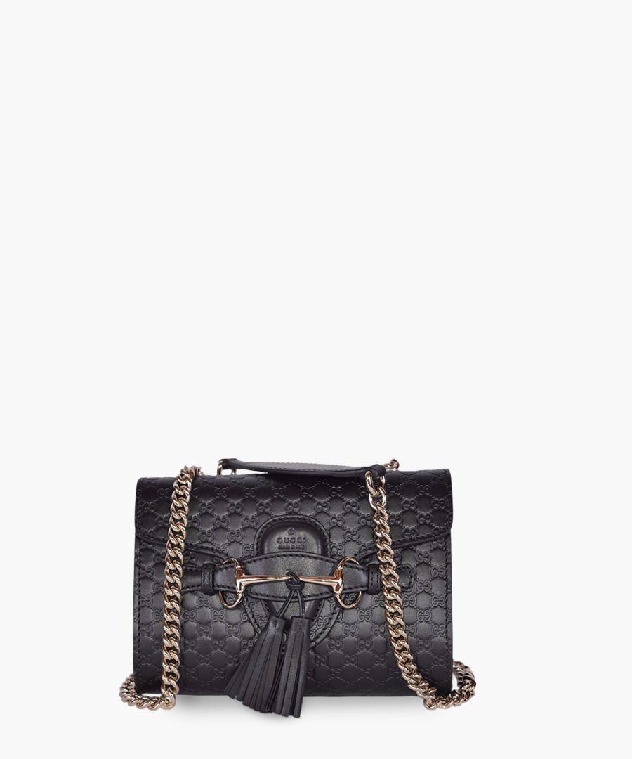 Guccissima Small Emily leather crossbody